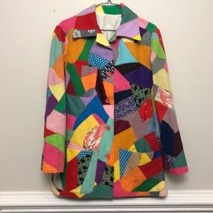 Jackets & Blazers - Vintage quilted patchwork multi colored coat